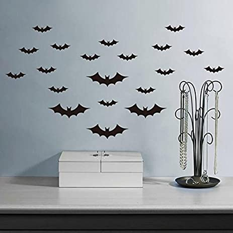 Wall Art - Bat Wall Stickers Decals Walls Bats Halloween Decor Decal Stencils Garage Doors - & Amazon.com: Wall Art - Bat Wall Stickers Decals Walls Bats Halloween ...