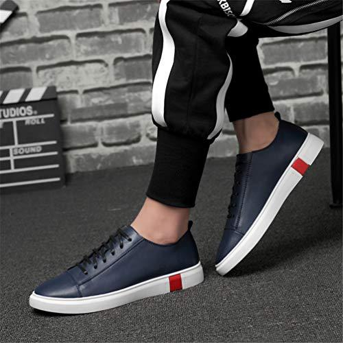 Zapatillas Hombres Calzado para Cuero Agua Zapatillas Los Hombres Azul CordóN Resistente De Al para Deportivo ddxwpr