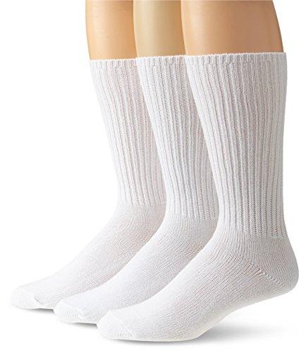 Calvin Klein Men's 3 Pack Cotton Rich Casual Rib Sock, White, Size: 10-13/Shoe Size:9-11