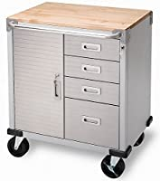 9. Seville Classics UltraHD Rolling Storage Cabinet with Drawers (UHD20225B)