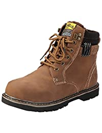 Akar Men's Fashion Warm Thicken Casual Martin Boots Military Oxford Shoes
