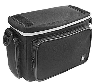 Front Handlebar Bicycle Bag with Quick Release bracket with Rain cover, Limit weight:12 LB by Biria