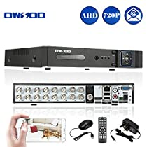 OWSOO 16CH H.264 720P P2P AHD Network DVR CCTV Security Phone Control Motion Detection Email Alarm for Surveillance System Camera by OWSOO