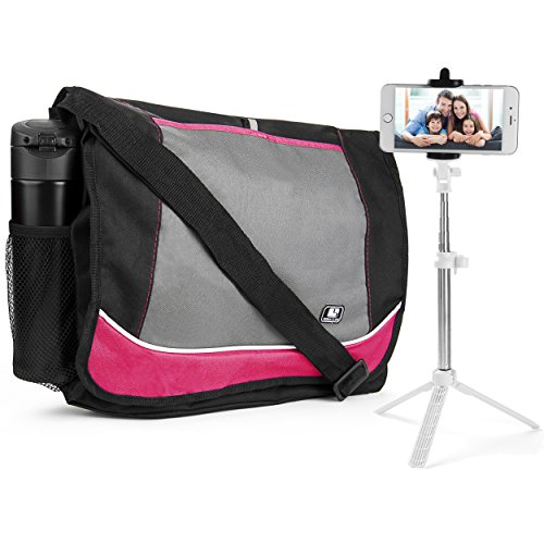 SumacLife DF_000001333 Multi-Purpose Messenger Bag for Travel, Gym, Work or School with Blue Tooth Remote Control Selfie Stick for (Guitar Bag Series)