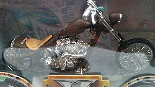 Qiyun West Coast Choppers Chanco Blanco Bike 1 18 Muscle Machines Diecast JJ04 18 06