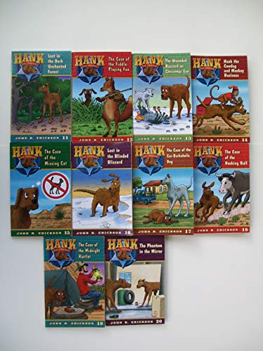Hank the Cowdog Series (10 Set) Dark Unchanted Forest, Fiddle Playing Fox, Wounded Buzzard, Monkey Business, Missing Cat, Blinding Blizzard, Car Barkaholic Dog, Hooking Bull, Midnight Rustler, Phantom
