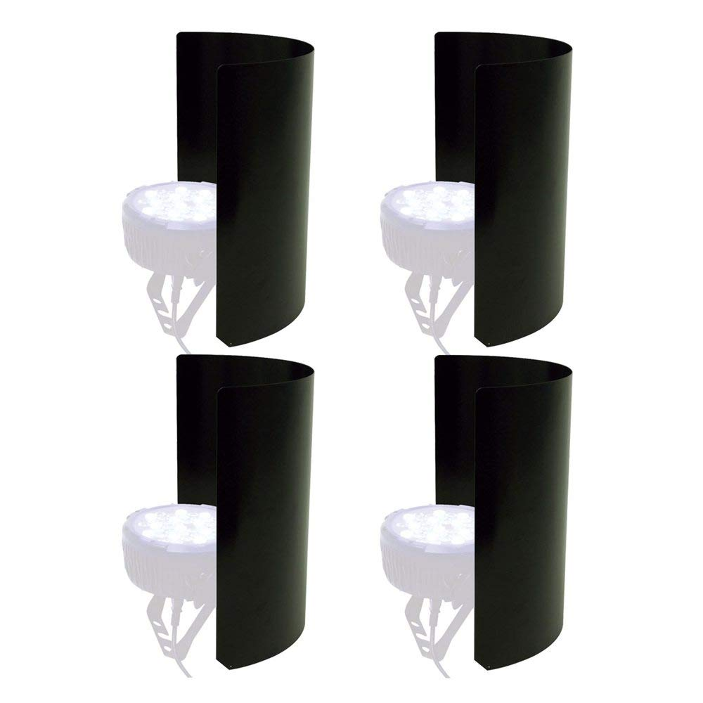 PSSL Light Shield 4 Pack For LED Fixtures - Black by PSSL