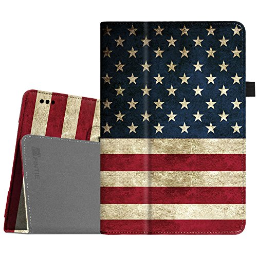 Fintie Case for Insignia Flex 10.1 Inch Tablet NS-P10A7100 / NS-P10A8100, Slim Fit Premium Vegan Leather Folio Cover with Stylus Holder, US Flag
