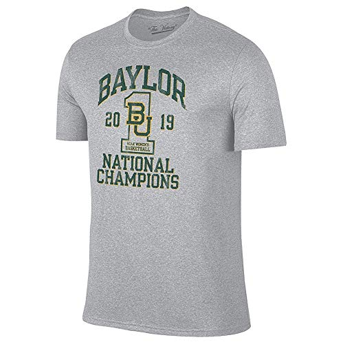 Elite Fan Shop Baylor Bears Womens National Basketball Championship Tshirt 2019 Vintage Gray - XL