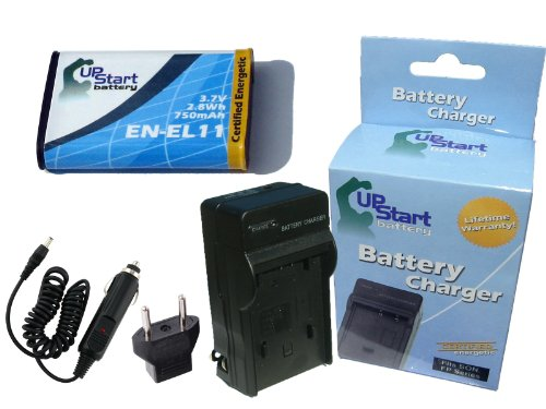 D-li78 Lithium Ion Battery - Replacement for Pentax Optio M50 Battery and Charger with Car Plug and EU Adapter - Compatible with Pentax D-LI78 Digital Camera Batteries and Chargers (750mAh 3.7V Lithium-Ion)