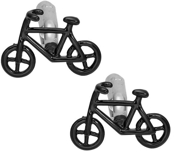 WYLCDGEOO Gemelos de Bicicleta Negro Plata Bicicleta Hombres ...