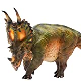 PNSO 5.9in Spinops Centrosaurus Styracosaurus Jurassic Dinosaur PVC Realistic Animal Models Educational Painted Figure Figurine Toys Dino Collector Decor Gift Birthday Party for Adult PreOrder