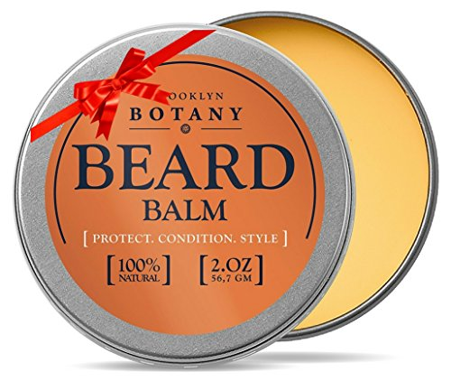Brooklyn Botany Beard & Mustache Balm / Oil / Wax / Leave In Conditioner 1.7 oz - 100% Natural, Soothes Itching - Thickens, Strengthens, Softens, Tames & Styles Facial Hair (Beard Oil And Mustache Wax compare prices)