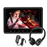 Car DVD Player 10.1 Inch Wide Screen Headrest DVD Player Backseat Rear Entertainment System for Long Rides Support DVD VCD CD SD USB FM HDMI (CLZ101HD-HA)