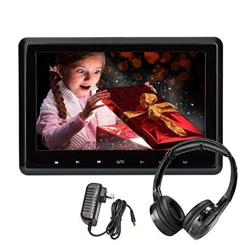 Car DVD Player 10.1 Inch Wide Screen Headrest DVD Player Backseat Rear Entertainment System for Long Rides Support DVD VCD CD SD USB FM HDMI (CLZ101HD-HA) by CarThree
