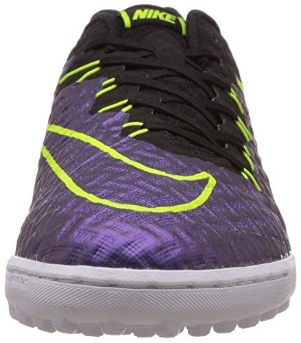 Nike Herren Hypervenomx Finale Tf Fußballschuhe Violett, Schwarz, Grün, Weiß (Hyper Grape / Black-Volt-White)