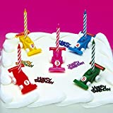 CLUB GREEN CAKE DECORATION SET- 5 RACING CARS AND 5 CANDLES