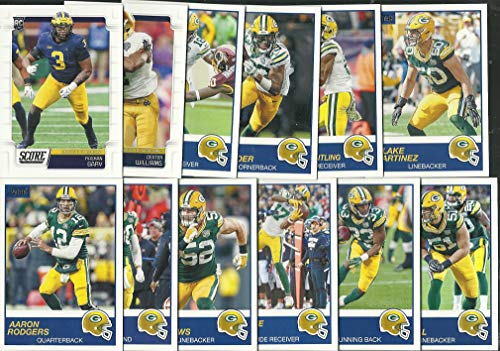 2019 Panini Score Football Green Bay Packers Team Set 12 Cards W/Drafted Rookies Aaron Rodgers
