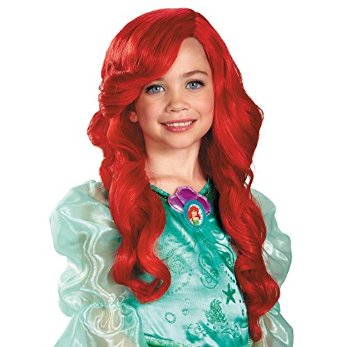 [Disguise Disney Princess The Little Mermaid Ariel Child Wig] (Ariel Blue Dress Costumes)