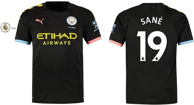 Sane 19 Manchester City Trikot Kinder 2019-2020 Away PL 152