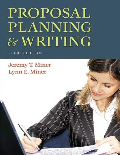 Proposal Planning+Writing