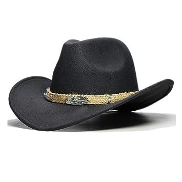 Sombrero y gorra, Mujeres Hombres Lana Hueco Sombrero de vaquero ...
