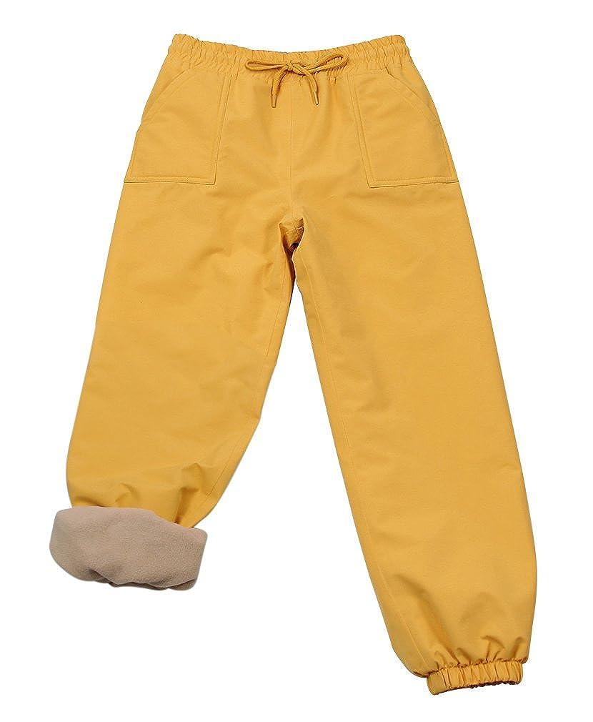 Kids Water-Proof Fleece-Lined Or Single Layer Rain Pants