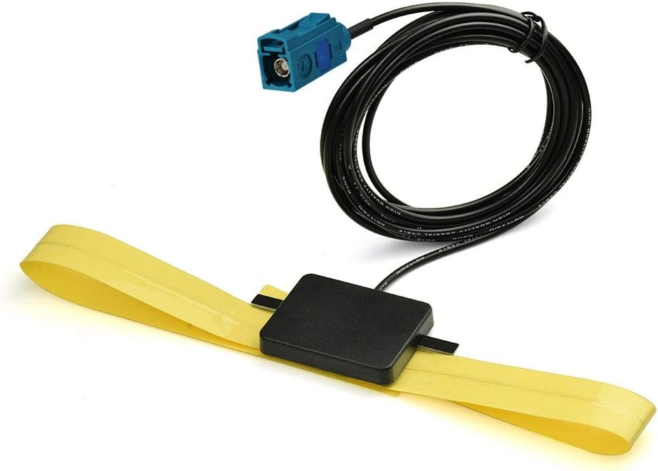 Eightwood Antena Dab + Adaptador Fakra Radio del Coche TV Antena GPS Dab Antena Active 10dbi Fakra Parche Z Hembra Cristal Aéreo Montaje 3m 9.8ft para ...