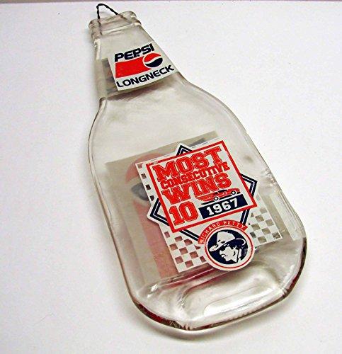 (Rare Richard Petty NASCAR Most Consecutive Wins 10 - 1967 Flattened Pepsi Long Neck Bottle)