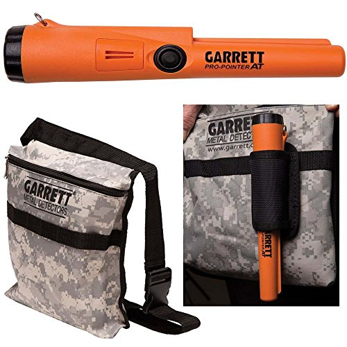 Garrett Pro Pointer AT Metal Detector Waterproof ProPointer with Garrett Camo Pouch ()