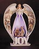 Lighted Joy Angel Figurine with Nativity