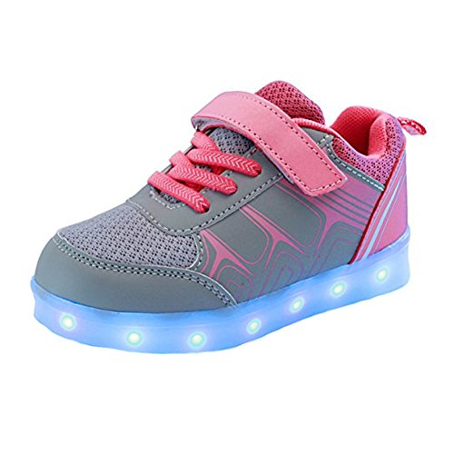 Dogeek Led Shoes  Led Light Up Shoes For Toddles  Boys  Girls And Kids With 7 Colors Light Choose One Size Up