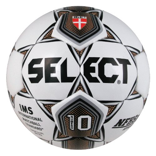Select Sport America Numero 10 Soccer Ball, 5, White/Gold/Black