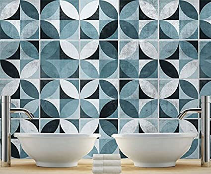 Adesivi per piastrelle confezioni con 32 piastrelle 30 x 30 cm