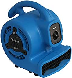 XPOWER P-80A Mini Mighty Air Mover, Floor Fan, Dryer, Utility Blower with Built-in...