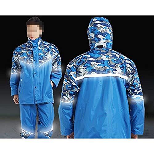 Pêche Adulte Split Air Gongff Moto De Costume Plein Imperméable Camouflage Blue xPqwaT