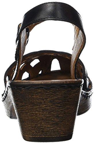Mujer 600 con Noir Tira Negro Seibel de Black Sandalias 43 Josef Cuero qFfwxA7