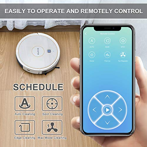 GOOVI Robot Vacuum, 1600PA Robotic Vacuum Cleaner with Wi-Fi, Super-Thin, Self-Charging Robot Vacuum Cleaner, Best for… 3