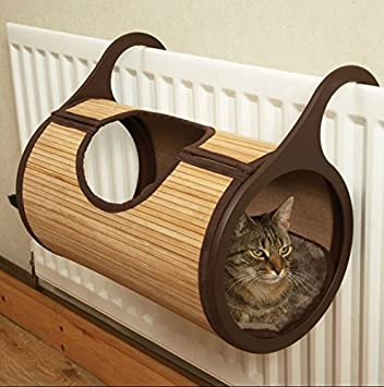 Gato Radiador cama felpa – hecho de bambú y tipo de eco-fibre – se
