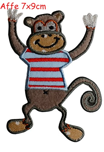 2-iron-on-patches-embroidered-applique-craft-guitar-4x11-and-monkey-7x9cm-decoration-diy-for-jeans-c