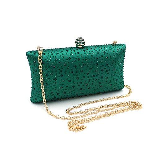 Purse Special Missfiona Bag Hand Evening Satin Emerald Clutch Jeweled Occasion Women's Formal vwxwagZ4q