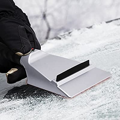 Zone Tech Pack of 2 Winter Premium Quality 12 Volt Electric Snow and Ice Scraper-Non Scratch: Automotive