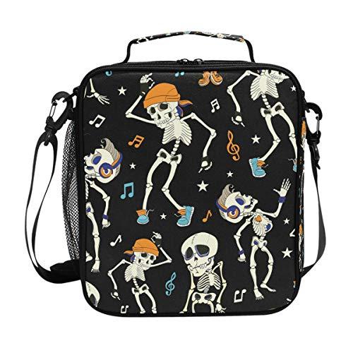 MAHU Lunch Bag Box Music Note Skull Halloween