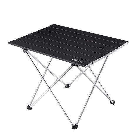 Amazon.com: Mesa plegable portátil de aluminio con bolsa de ...
