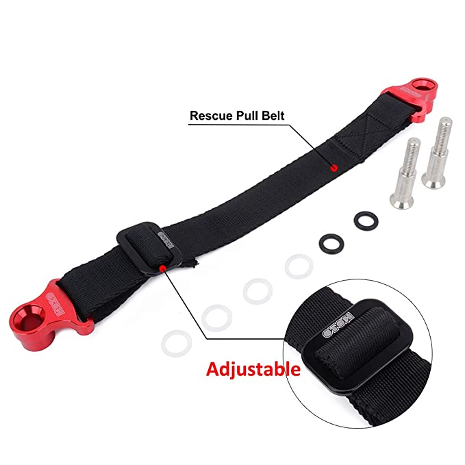 EXCEPT YZ250F//YZ450F 14-19 Red JFG RACING Universal Rear Shock Absorber Tie Down Straps Rescue Pull Drag Belt For Off Road Motorcycle Dirt Bike