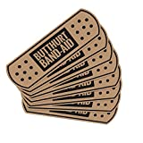 auto bandaid - Butthurt Band Aid Funny Automotive Sticker Scratch Cover Pack of 8 fits All Vehicles Butt Hurt