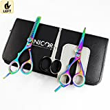 NEW Professional Razor Edge Hair Cutting Shears/Scissors with adjustable tension and finger inserts - Japanese Steel Scissors Shears Stylish Hair Thinner 5 ½ Inch Scissors (Cutting Scissors 01)