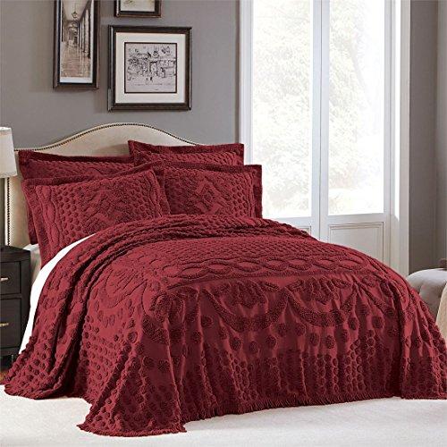 Brylanehome Georgia Cotton Throw Bedspread (Burgundy,King)