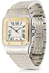 Cartier Santos W20011C4 Mens Watch in 18K Yellow Gold & Stainless Steel (Certified Pre-Owned)