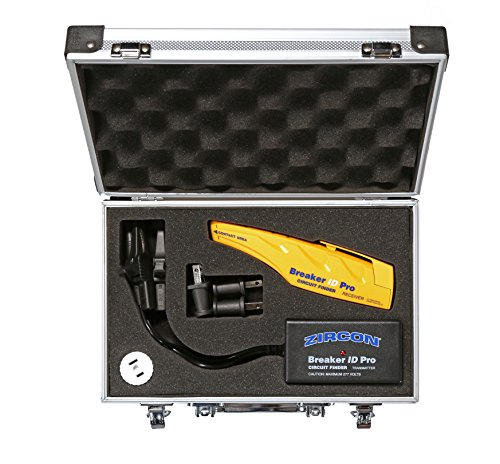 Zircon Breaker ID Pro - Commercial & Industrial Complete Circuit Breaker Finding Kit/Compatible with Outlets up to 277V/ Professional Accessories Included